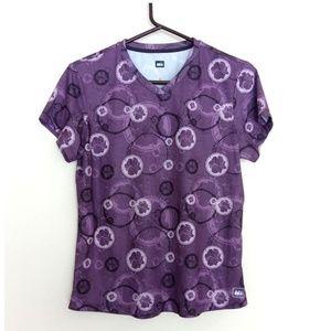 2/$10 REI Co-op Top Purple Flowers Running Tee